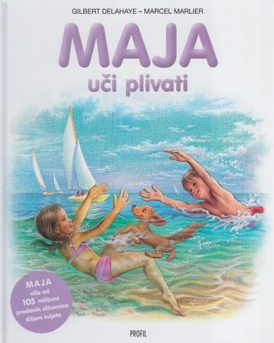 Maja uči plivati