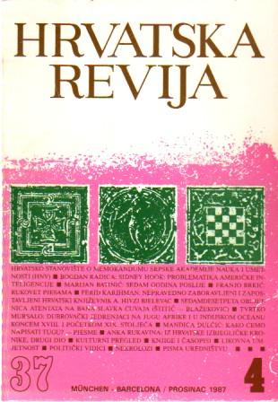 Hrvatska revija 37/4